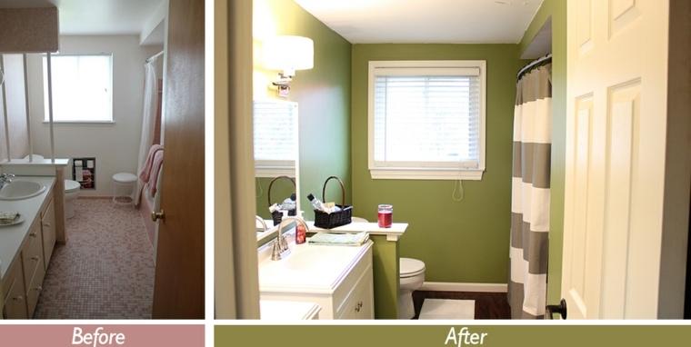 diseño baño antes después