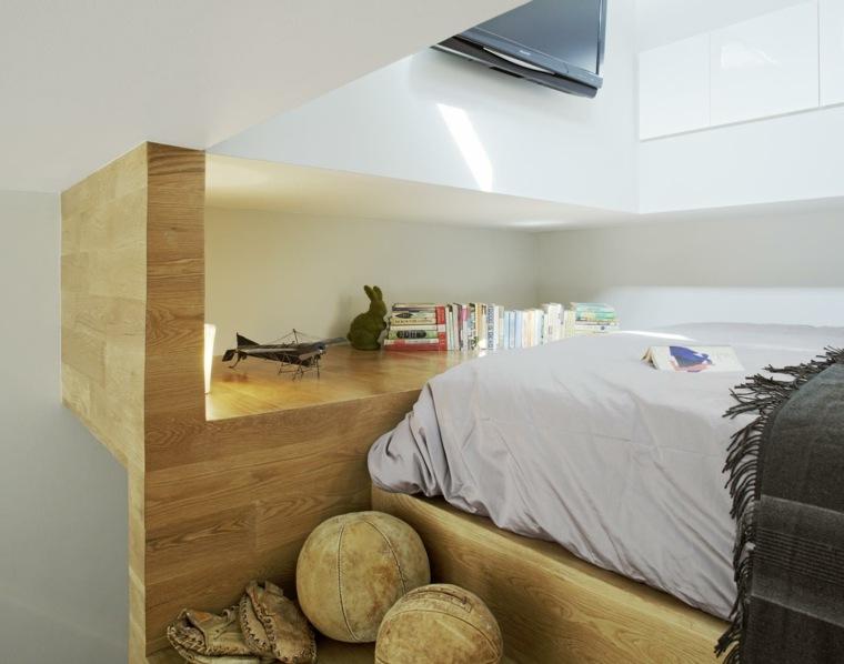 diseño original cabecero cama madera