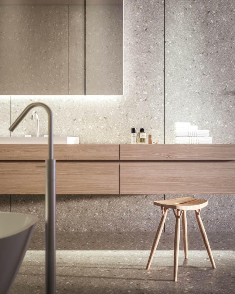 disenos bano lavabo madera muebles bano ideas