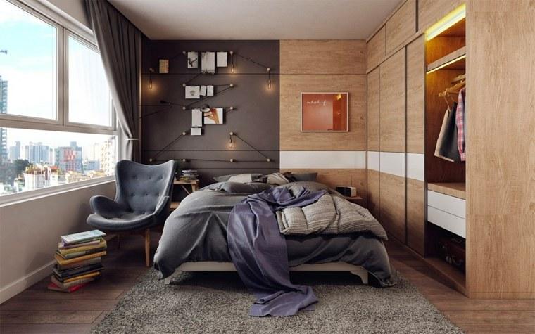 dormitorio gris madera Koj Design