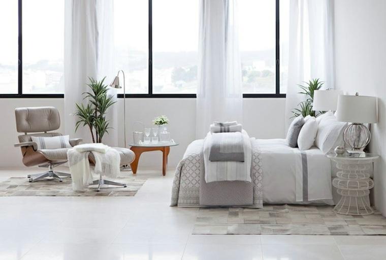 dormitorio blanco diseno moderno estilo ideas