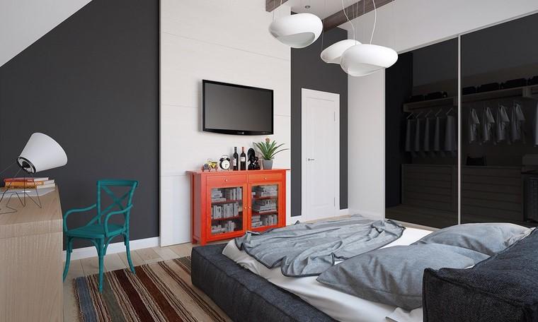 dormitorio blanco negro opciones colores vibrantes ideas