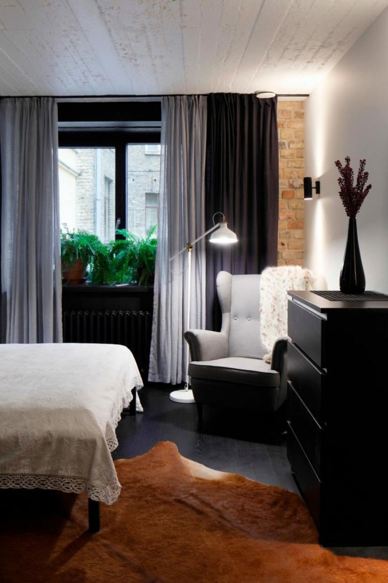 dormitorio sillon estilo vintage alfombra