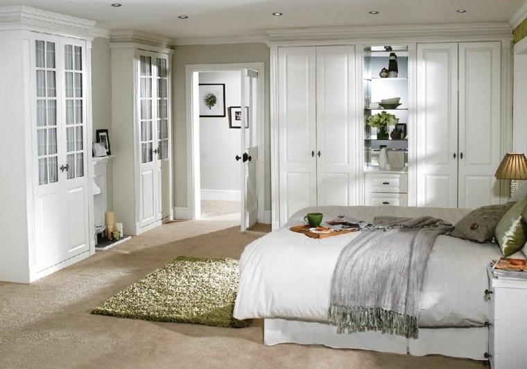 dormitorios blancos amplios muebles blancos tradicionales ideas