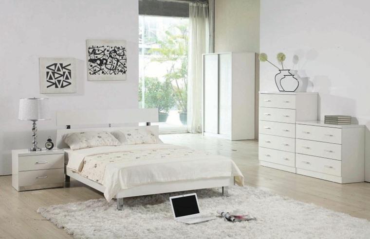 dormitorios blancos amplios muebles opciones ideas