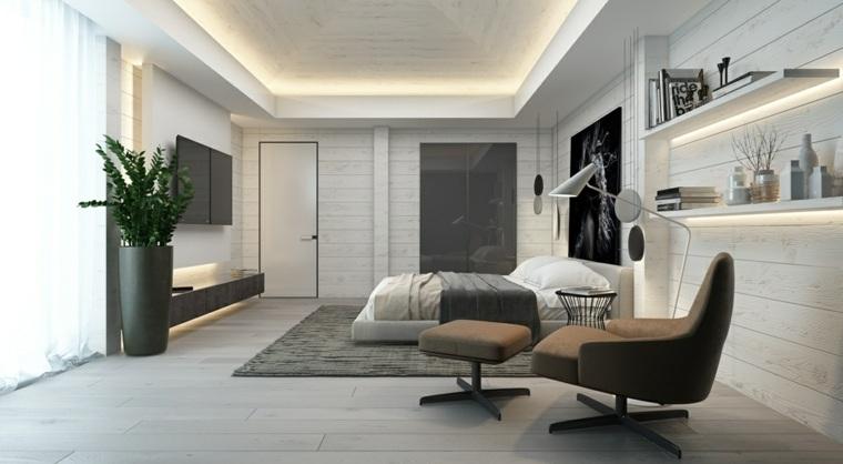 dormitorios blancos contemporaneos toques gris ideas