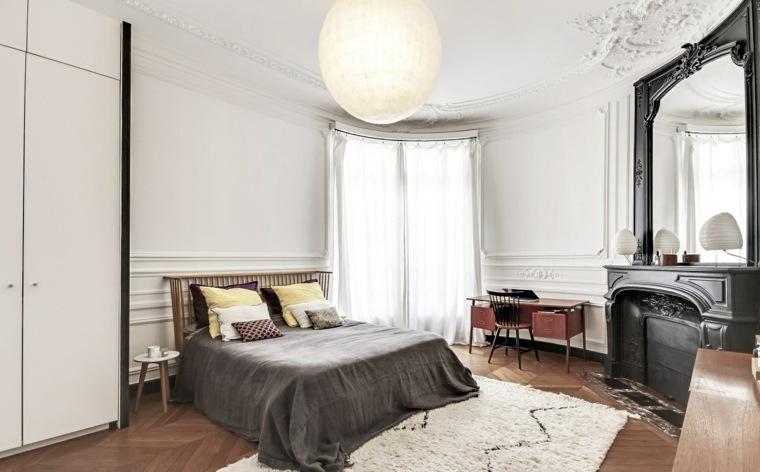 dormitorios blancos contemporaneos toques negro ideas