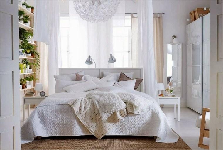 dormitorios blancos plantas diseno moderno ideas