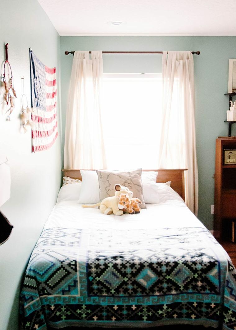 dormitorios en blanco bohemios