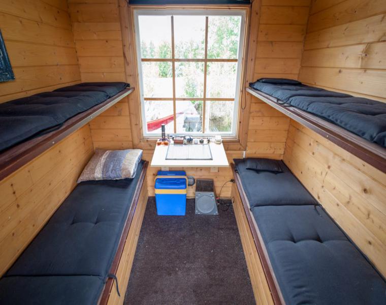 cabina dos literas casa flotante