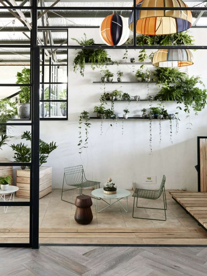 elegantes estantes pared muebles lineas