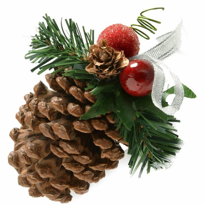elementos sencillos decorados navidad flores