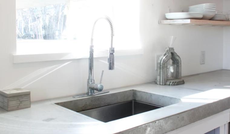 encimera cocina concreto diseo moderno