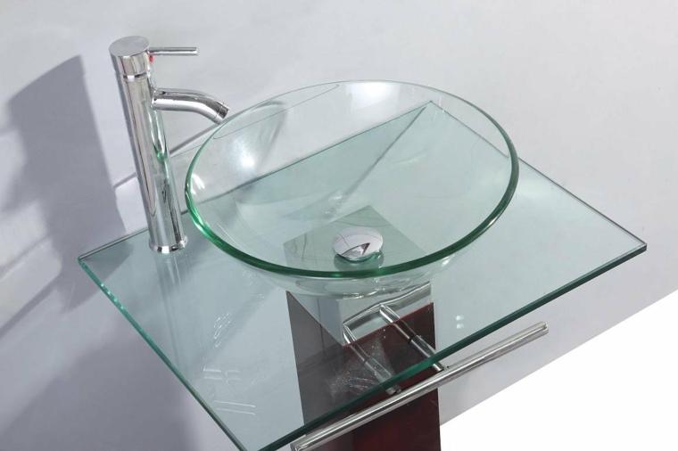 Lavabos de cristal para unos ba os elegantes - Encimeras lavabos bano ...