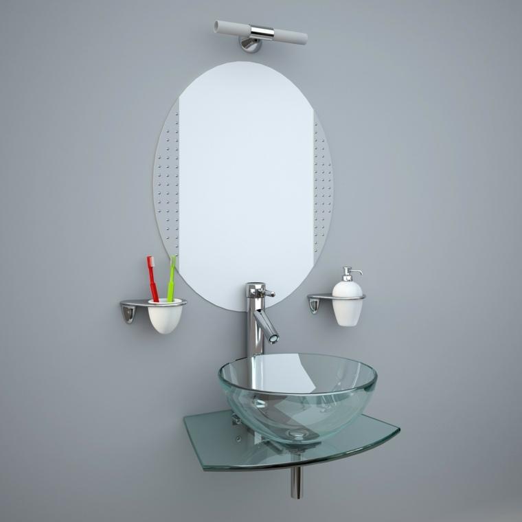encimeras de cristal para lavabos