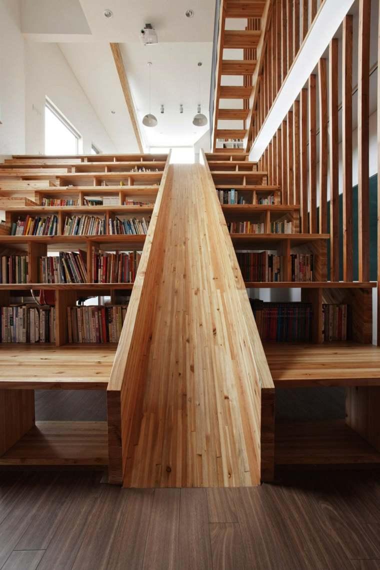 escaleras tobogan madera diseno interiores idesa