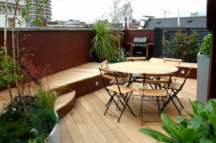 espacio comedor exterioress muebles redonda