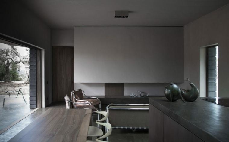 espacio vida diseno moderno cocicna salon ideas
