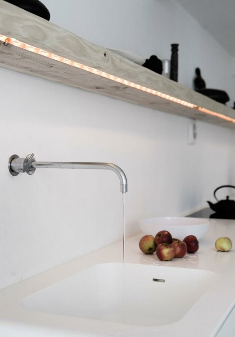 estante cocina luces led