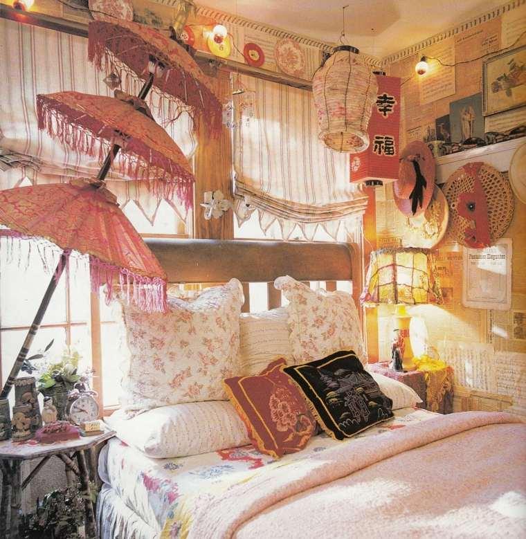 estilo bohemio habitación