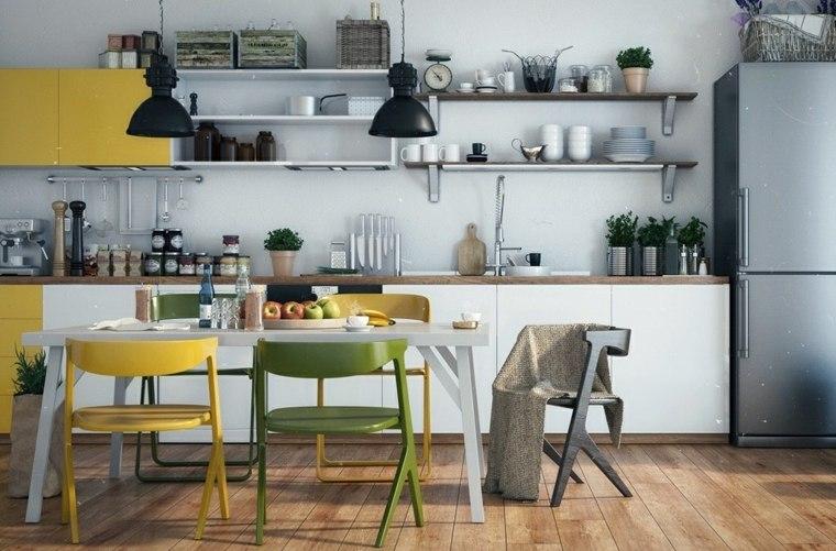 estilo escandinavo cocinas diseno combinacion colores ideas