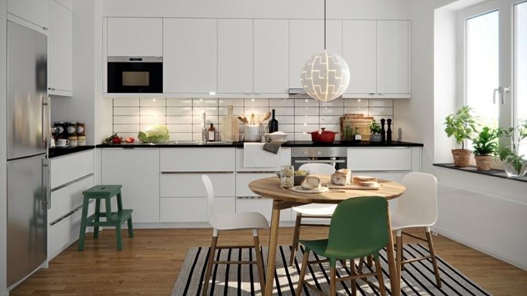 estilo escandinavo cocinas diseno comedor muebles madera ideas