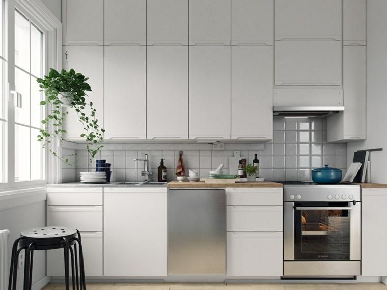 estilo escandinavo cocinas diseno electrodomesticos cromo ideas