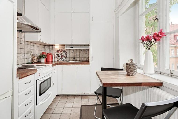estilo escandinavo cocinas diseno estrecha cocina ideas