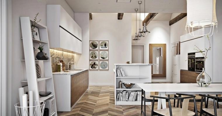 estilo escandinavo cocinas diseno habitacion amplia ideas