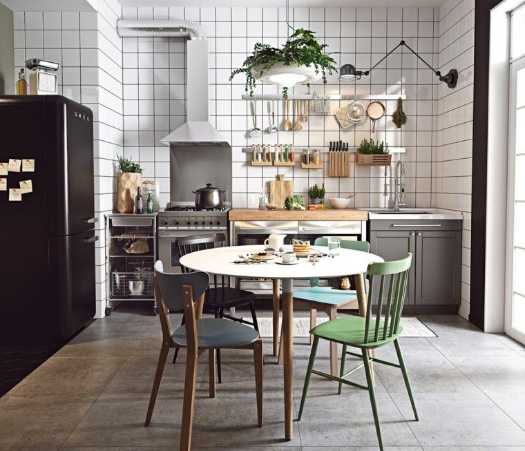estilo escandinavo cocinas diseno losas clasicas pared ideas