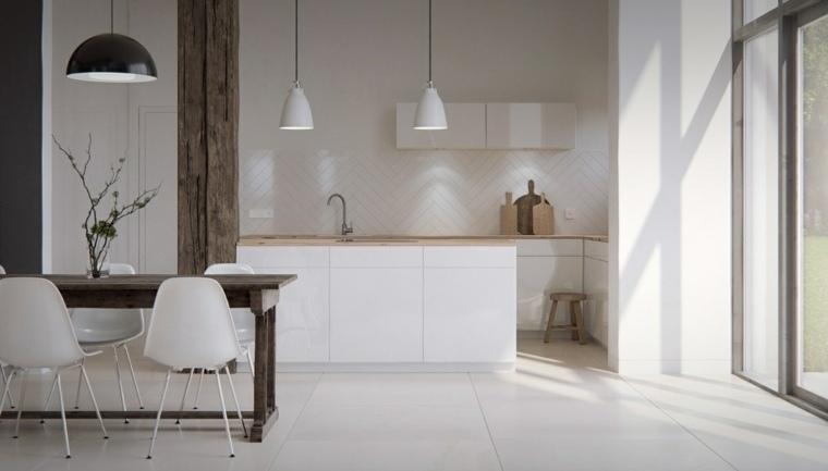 estilo escandinavo cocinas diseno luminoso blanco ideas