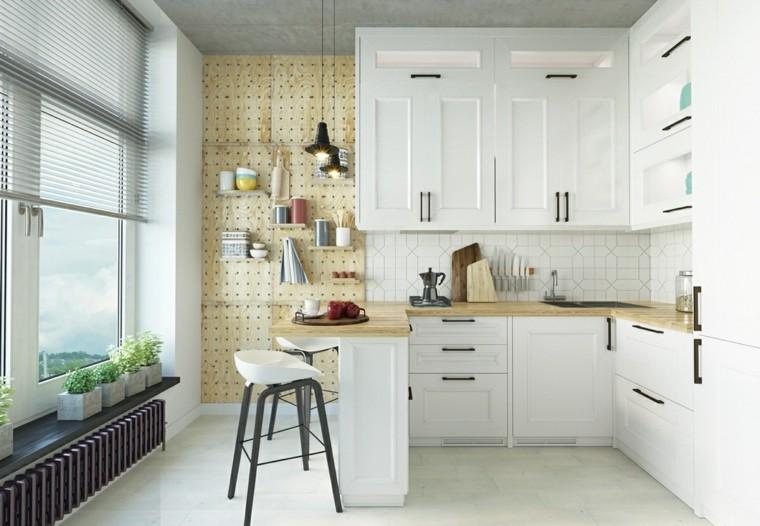 estilo escandinavo cocinas diseno luminoso brillante ideas