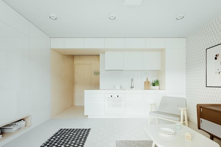 estilo escandinavo cocinas diseno minimalista amplia cocina ideas