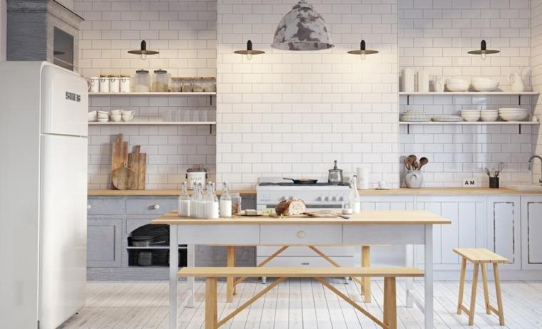 estilo escandinavo cocinas diseno muebles madera natural ideas