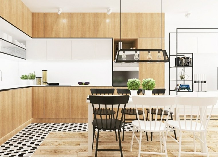 estilo escandinavo cocinas diseno muebles madera precioso ideas