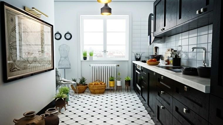 estilo escandinavo cocinas diseno muebles negros ideas