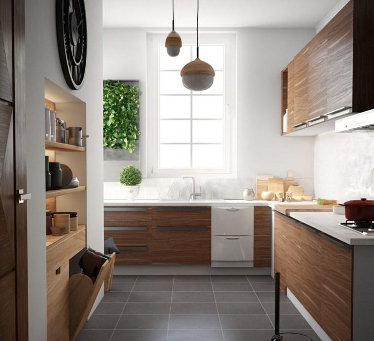 estilo escandinavo cocinas diseno paneles madera ideas
