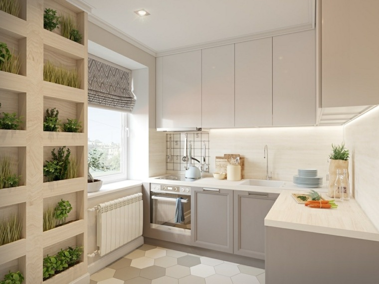 estilo escandinavo cocinas diseno plantas decorativas ideas