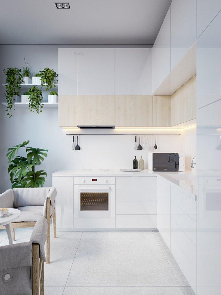 estilo escandinavo cocinas diseno plantas diseno minimalista ideas