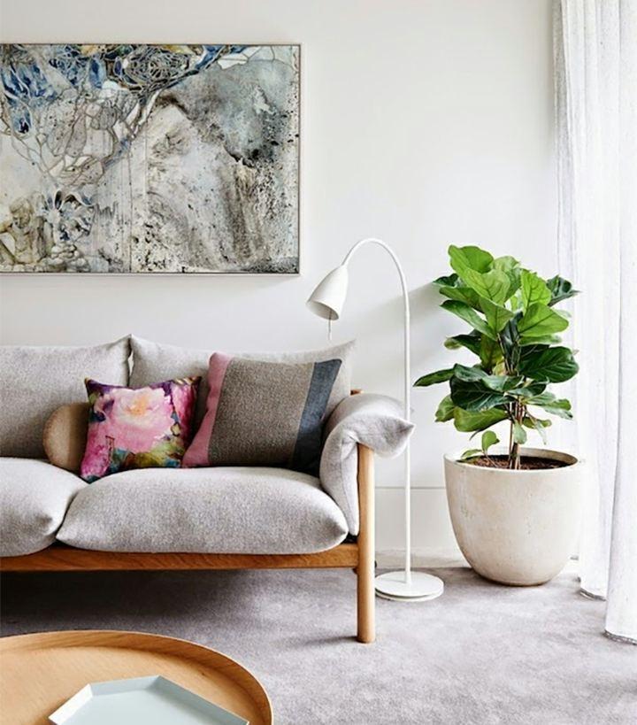 estilos elegantes salas colores cuadros