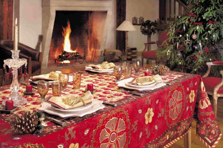 estupenda decoracion mesa navidad