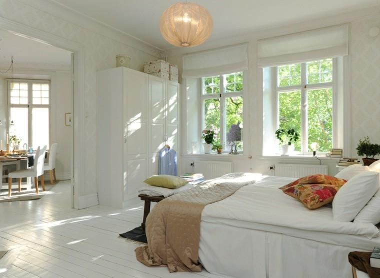 estupenda habitación color blanco