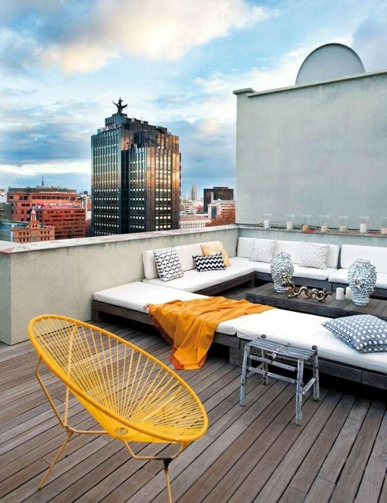 estupenda terraza estilo chill