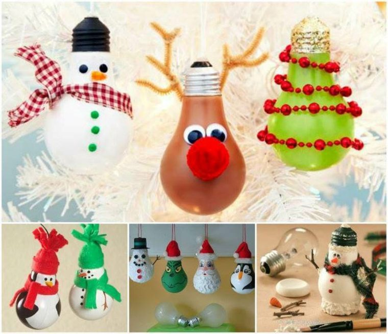 estupendas ideas bombillas navidad