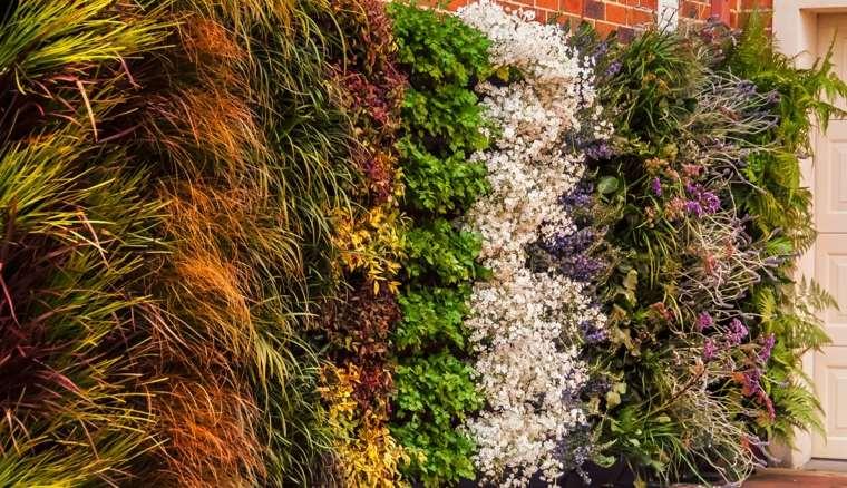 Como hacer un jardin vertical en casa o en el patio - Como construir un jardin ...