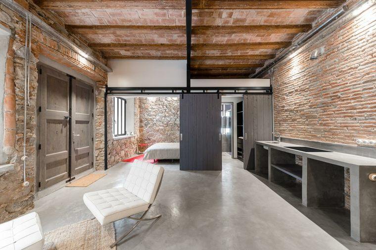 estupendo interior moderno cemento