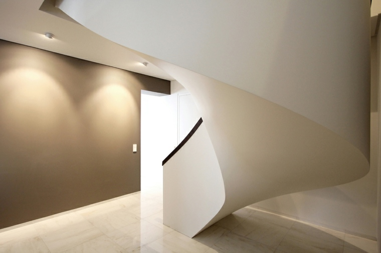 escalera caracol estilo minimalista