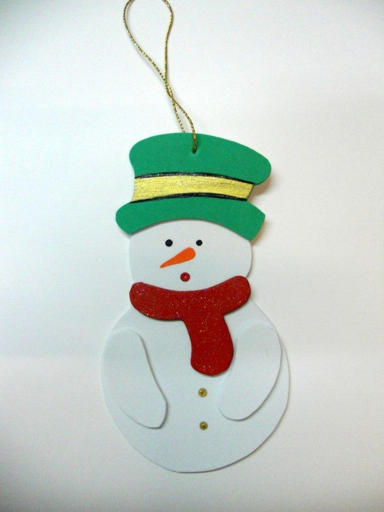 Goma eva para crear manualidades navide as asombrosas for Figuras de nieve navidenas