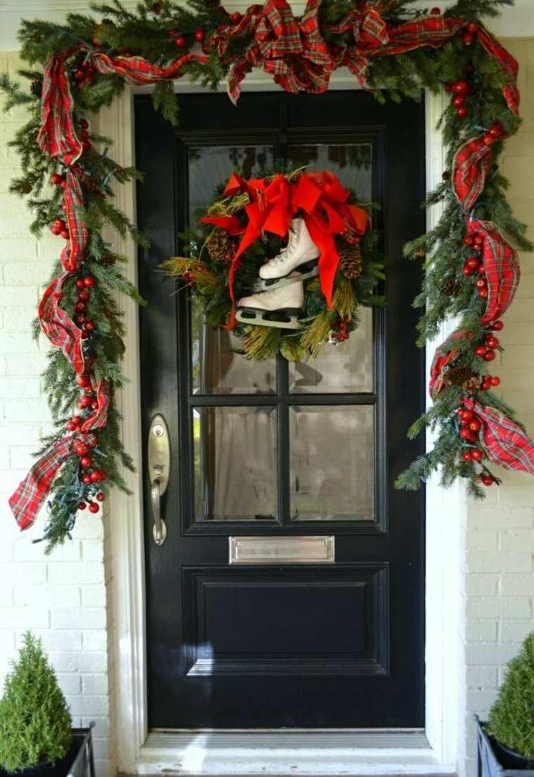 guirnalda opciones puerta decoracion navidad ideas