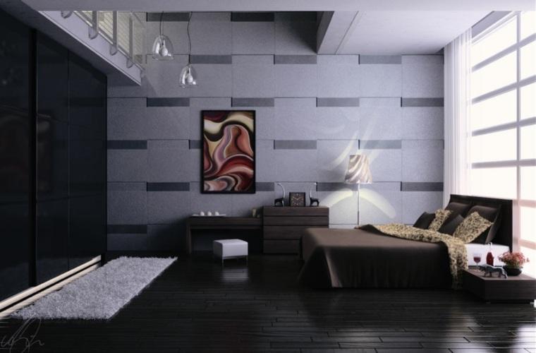 habitacion gris estilo moderno Zigshot82